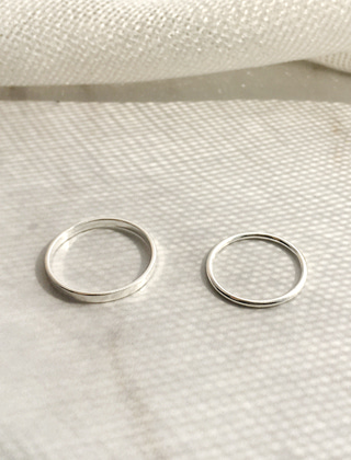 silver 2 type ring