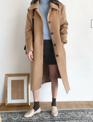 button wool coat