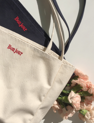bonjour cotton bag