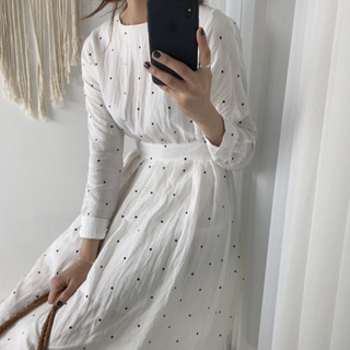 ribbon dot dress