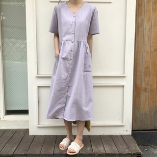 lavender linen dress (라벤더)