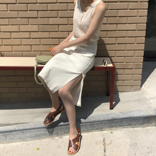 random cotton skirt (라벤더)